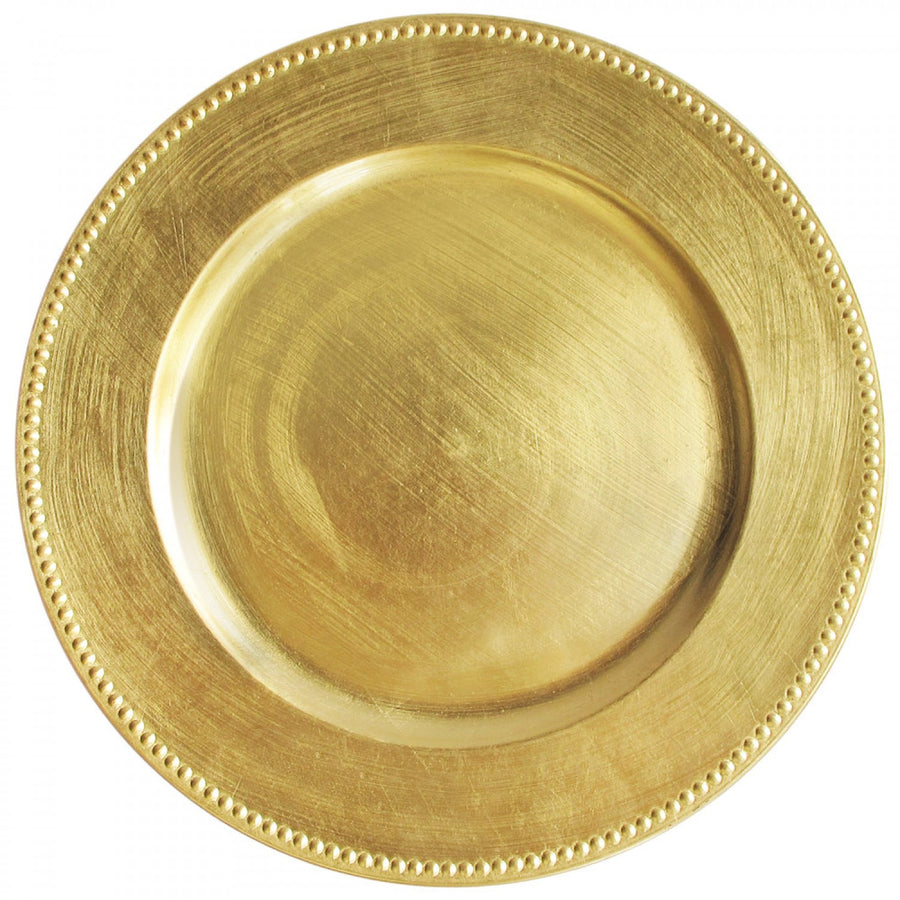 Gold Beaded Charger Plate, Harman, Putti Fine Furnishings