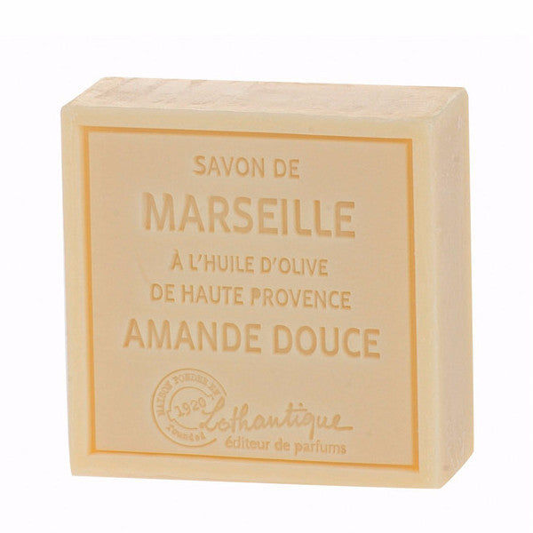Lothantique Savon Marseille Soap 100g - Sweet Almond -  Personal Fragrance - LO-Lothantique - Putti Fine Furnishings Toronto Canada