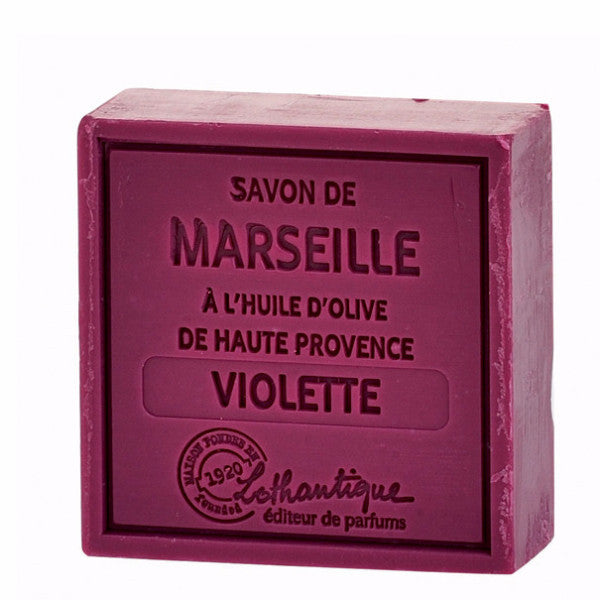 Lothantique Savon Marseille Soap 100g - Violet -  Personal Fragrance - LO-Lothantique - Putti Fine Furnishings Toronto Canada