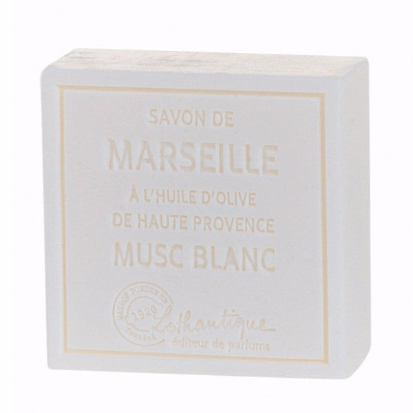 Lothantique Savon Marseille Soap 100g - White Musk -  Personal Fragrance - LO-Lothantique - Putti Fine Furnishings Toronto Canada