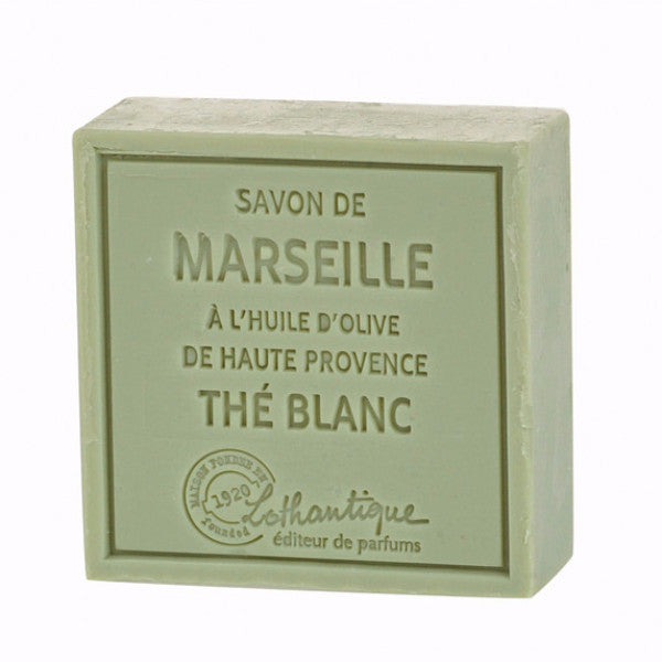 Lothantique Savon Marseille Soap 100g - White Tea -  Personal Fragrance - LO-Lothantique - Putti Fine Furnishings Toronto Canada