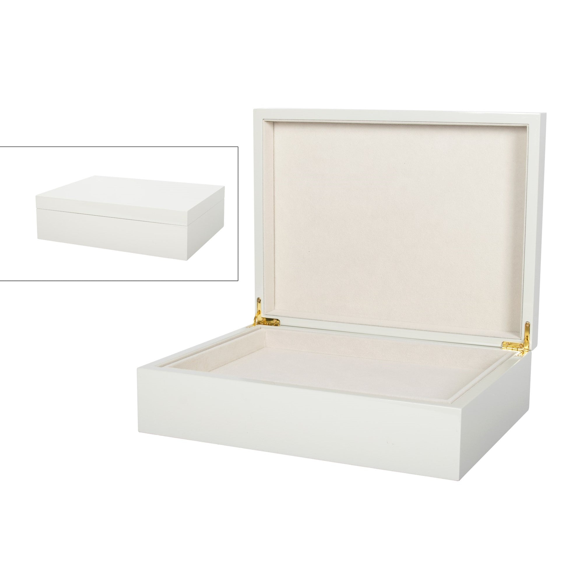 Light grey Jewellery Box - Large -  Putti Fine Furnishings Canada
