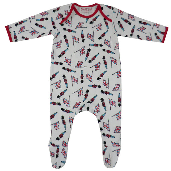 Soldier Baby Jumpsuit-Children's Clothing-PC-Powell Craft Uk-0 to 6 month (Special Order 2 weeks)-Putti Fine Furnishings