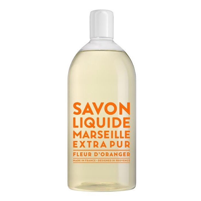 Compagnie de Provence Liquid Soap Refill 1000ml / 1 liter Orange Blossom | Putti Fine Furnishings
