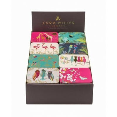 Sara Miller Small Rectangular Tin - Flamingos