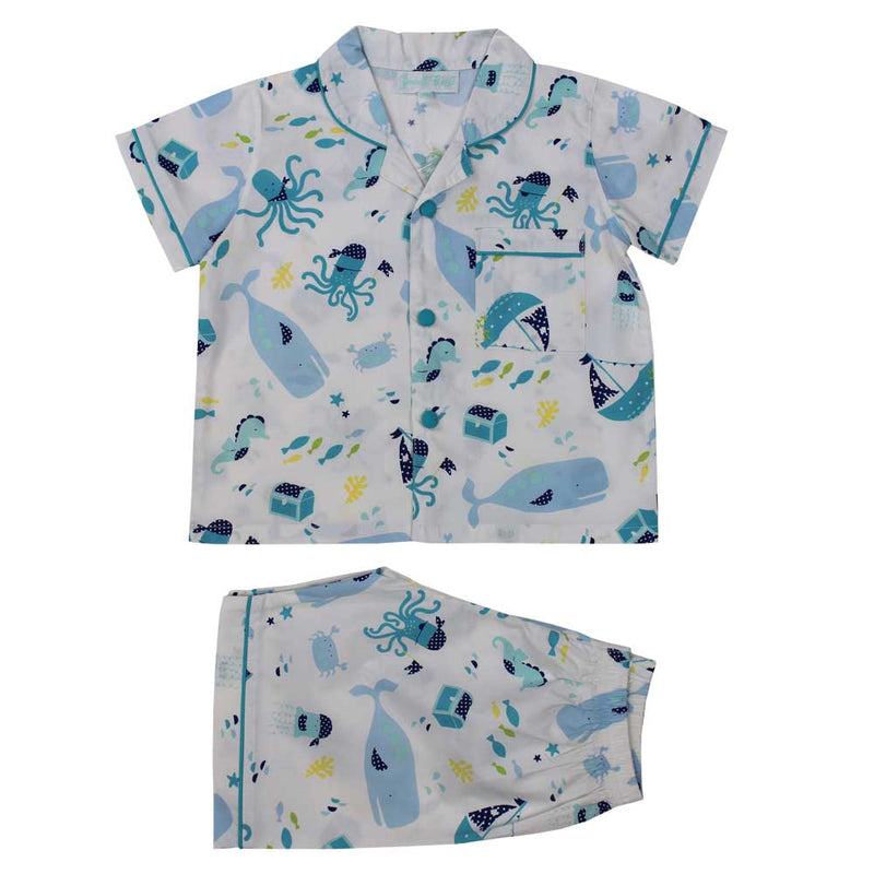 Deep Sea Nautical Shorts & Top Pyjamas