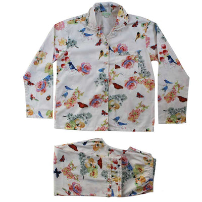 """Secret Garden"" Floral Ladies Cotton Pyjamas, PC-Powell Craft Uk, Putti Fine Furnishings"
