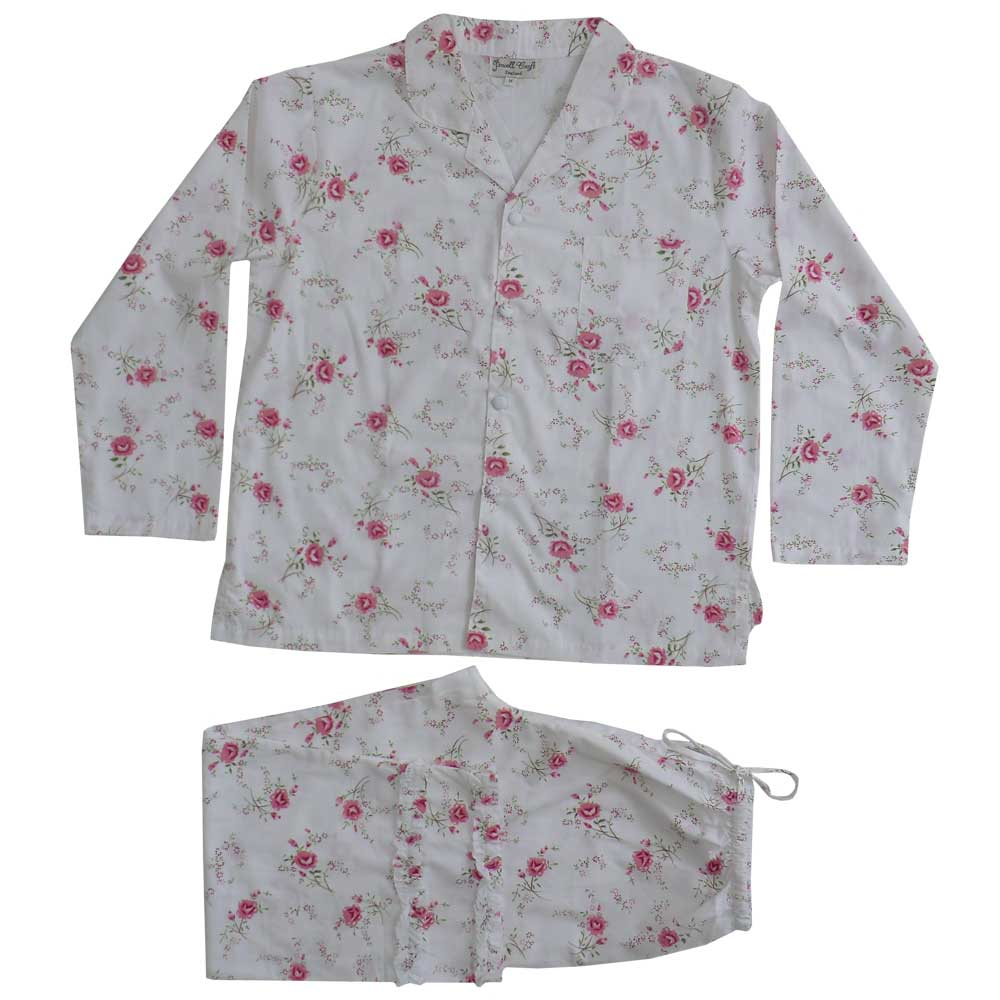 """Katie"" Rose Printed Cotton Ladies Pyjamas"