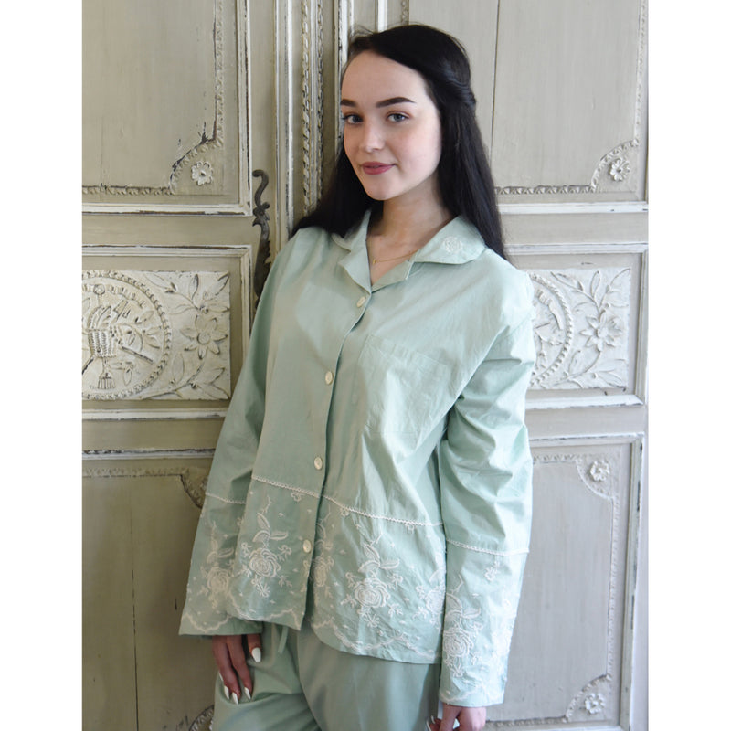Mint Green Pyjamas with Embroidery