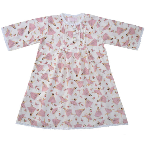 Ballerina Night Dress - 1-2 Years Special Order (4 weeks) Nightwear - Powell Craft Uk - Putti Fine Furnishings Toronto Canada