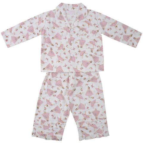 Ballerina Pyjamas - 1-2 Years (Special Order 2 Weeks) Nightwear - Powell Craft Uk - Putti Fine Furnishings Toronto Canada
