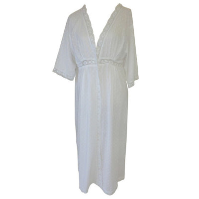 """Megan"" Swiss Dot Dressing Gown -  Women's Clothing - Powell Craft Uk - Putti Fine Furnishings Toronto Canada - 2"