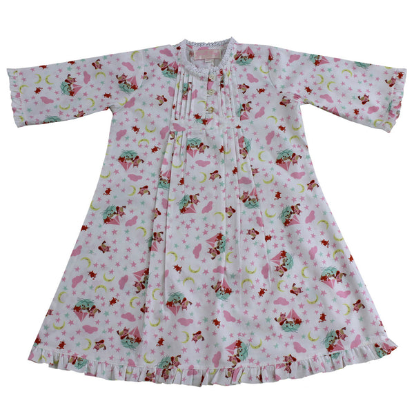 Owl and the Pussycat Night Dress - 1-2 Years (Special Order 2 weeks) Nightwear - Powell Craft Uk - Putti Fine Furnishings Toronto Canada