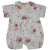 White Mixed Floral Romper Suit