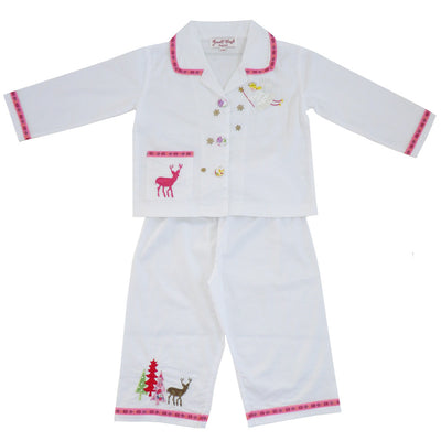 Christmas Angel Pyjamas - 1-2 Years Nightwear - Powell Craft Uk - Putti Fine Furnishings Toronto Canada - 1