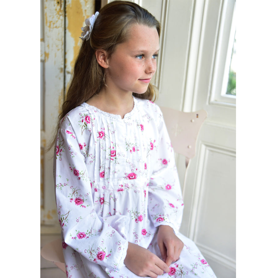 """Jenny"" Rose Floral Night Dress, PC-Powell Craft Uk, Putti Fine Furnishings"