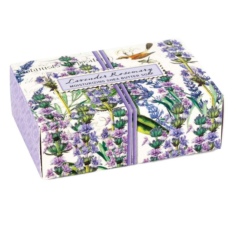 Michel Design Lavender & Rosemary Boxed Single Soap Putti Fine Furnishings  Canada