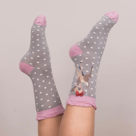 "Powder ""Bambi"" Ankle Socks - Slate-Personal Accessories-PDL-Powder Design Limited-Putti Fine Furnishings"
