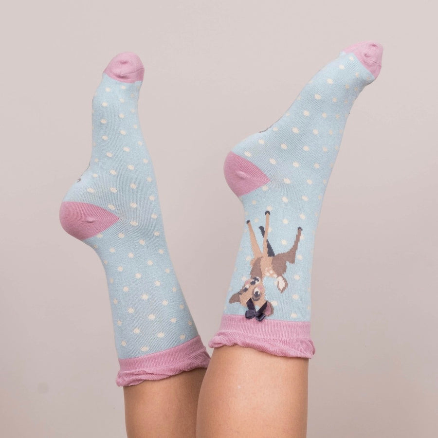 "Powder ""Bambi"" Ankle Socks - Ice, PDL-Powder Design Limited, Putti Fine Furnishings"