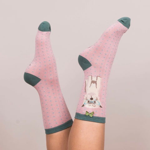 "Powder ""Westie"" Ankle Socks - Candy Pink-Personal Accessories-PDL-Powder Design Limited-Putti Fine Furnishings"