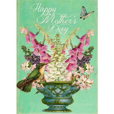 """Happy Mother's Day"" Green Bird Greeting Card"