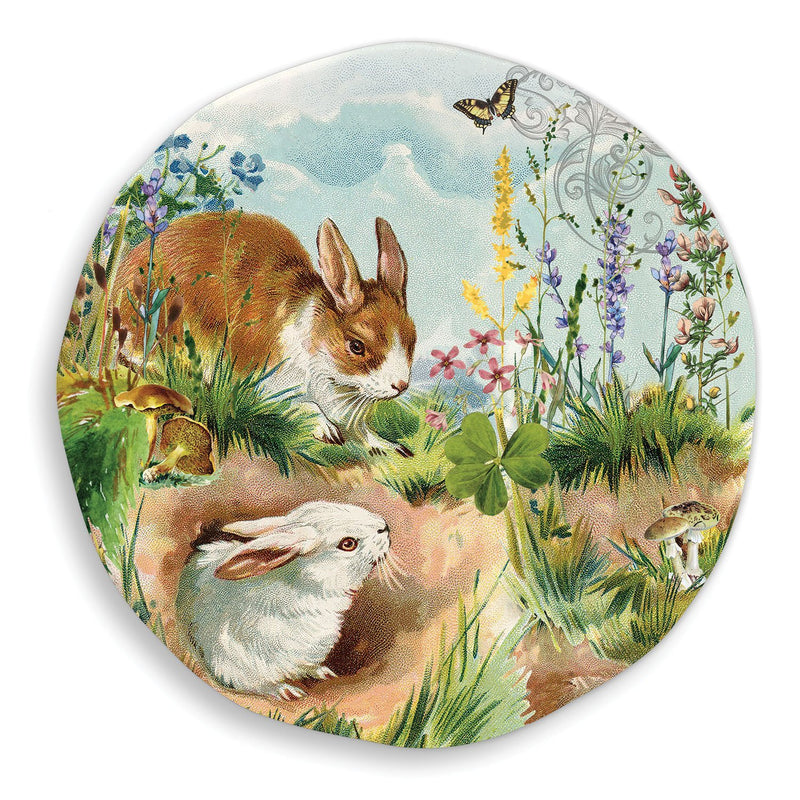 "Michel Design Works ""Bunny Hollow"" Large Round Melamine Platter 