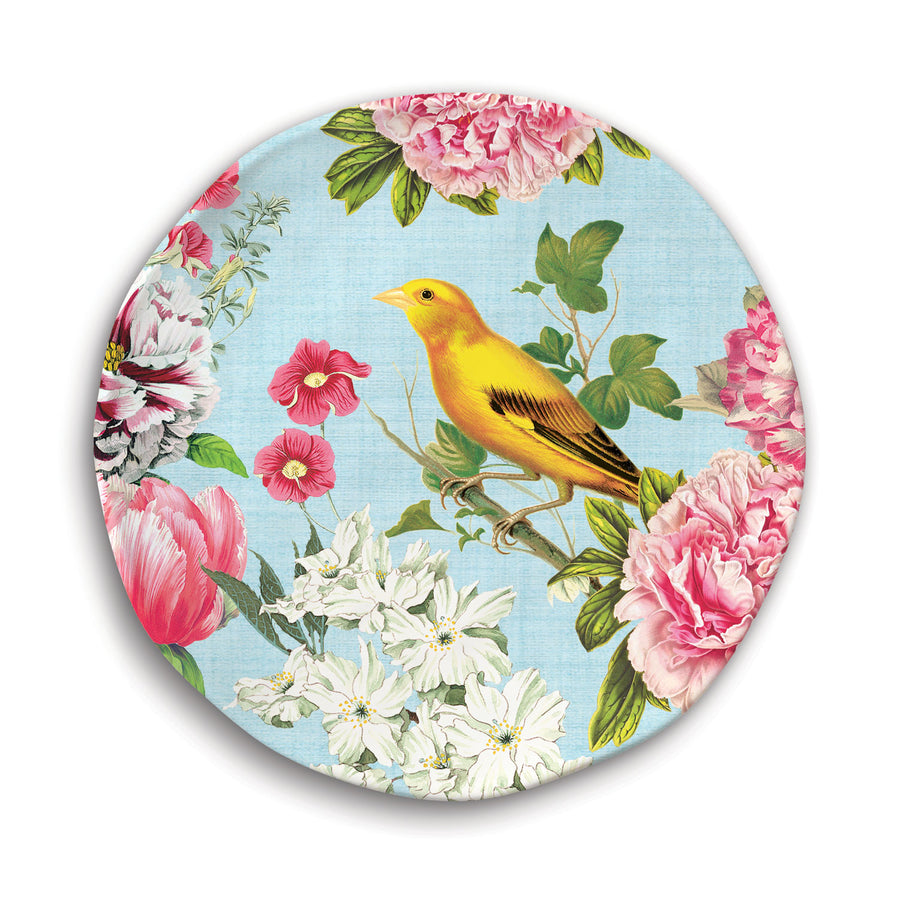 Michel Design Works Garden Melody Melamine Accent Plate