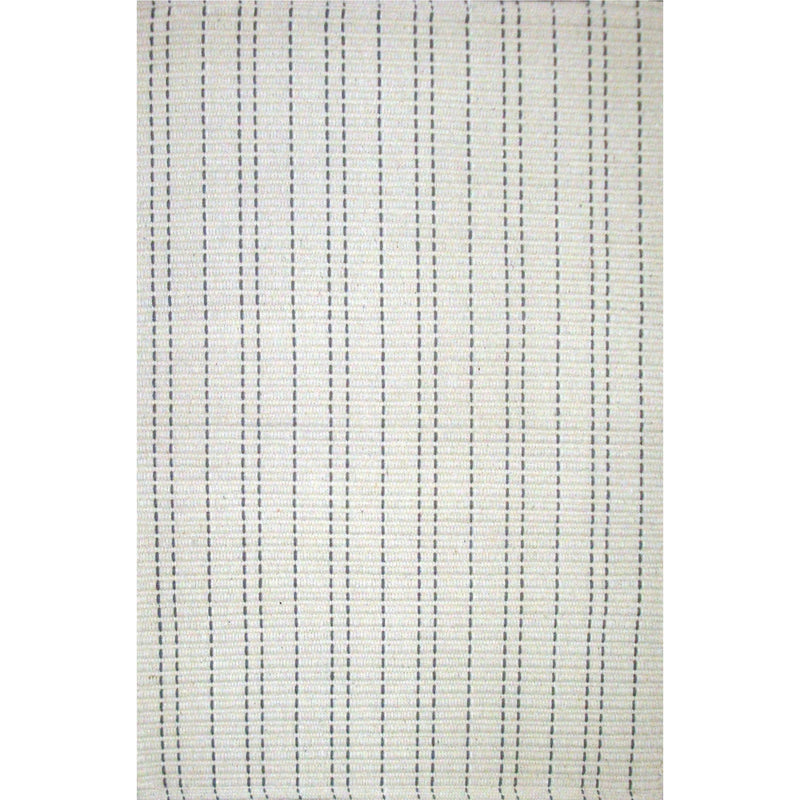 Saddle Stitch Ivory Dhurrie Rug