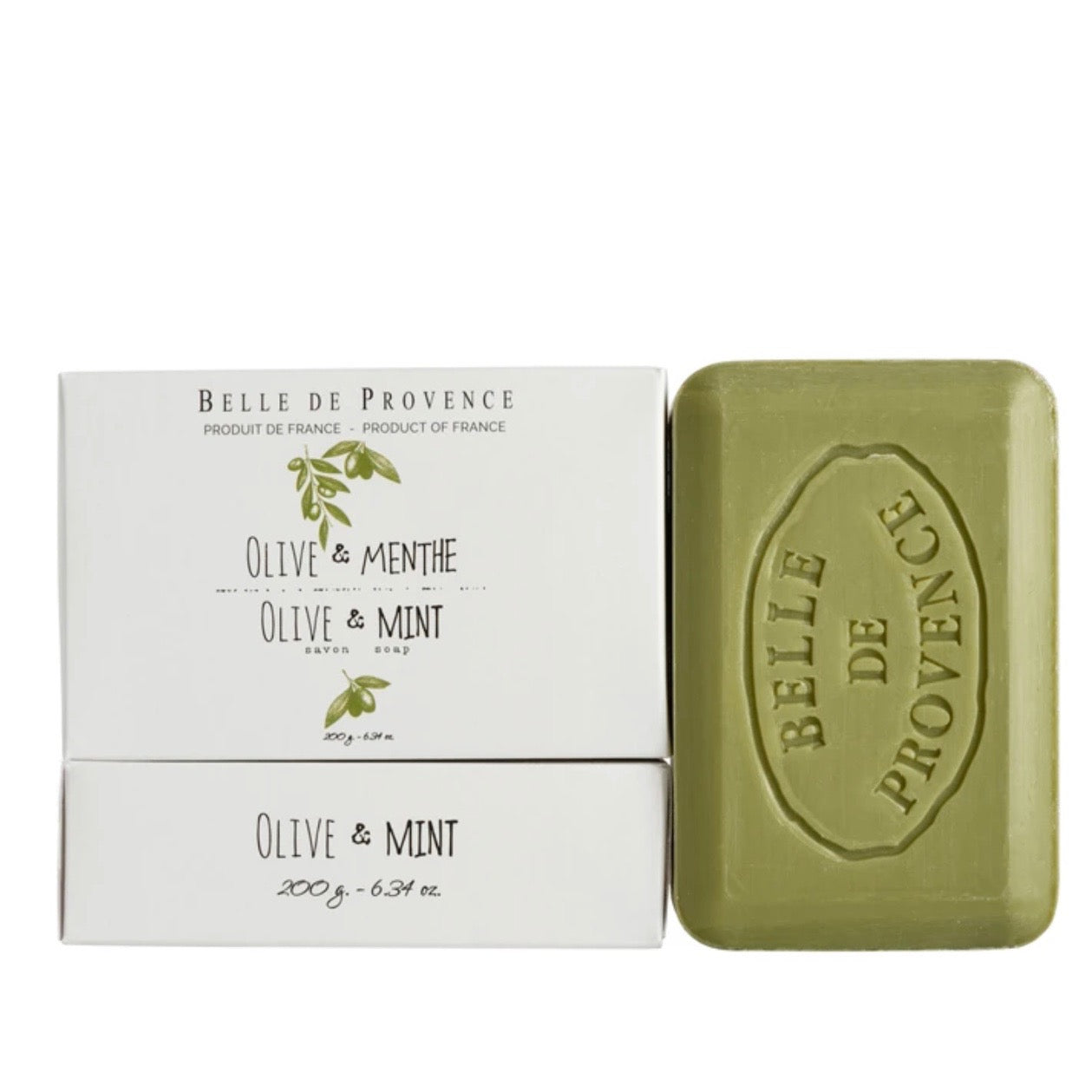 Belle de Provence Bar Soap 200g - Olive Mint