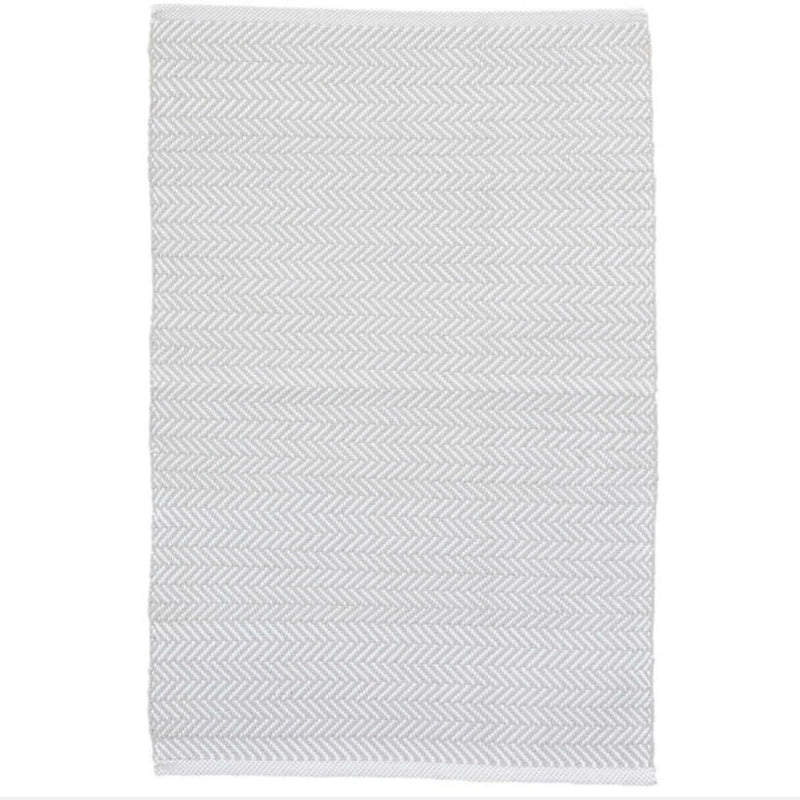 Herringbone Indoor Outdoor Rug - Pearl Grey