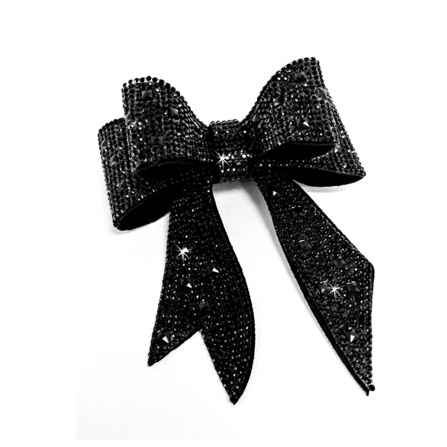 "Jacqueline Kent ""Sugar Cane Collection"" Crystal Bow - Black"