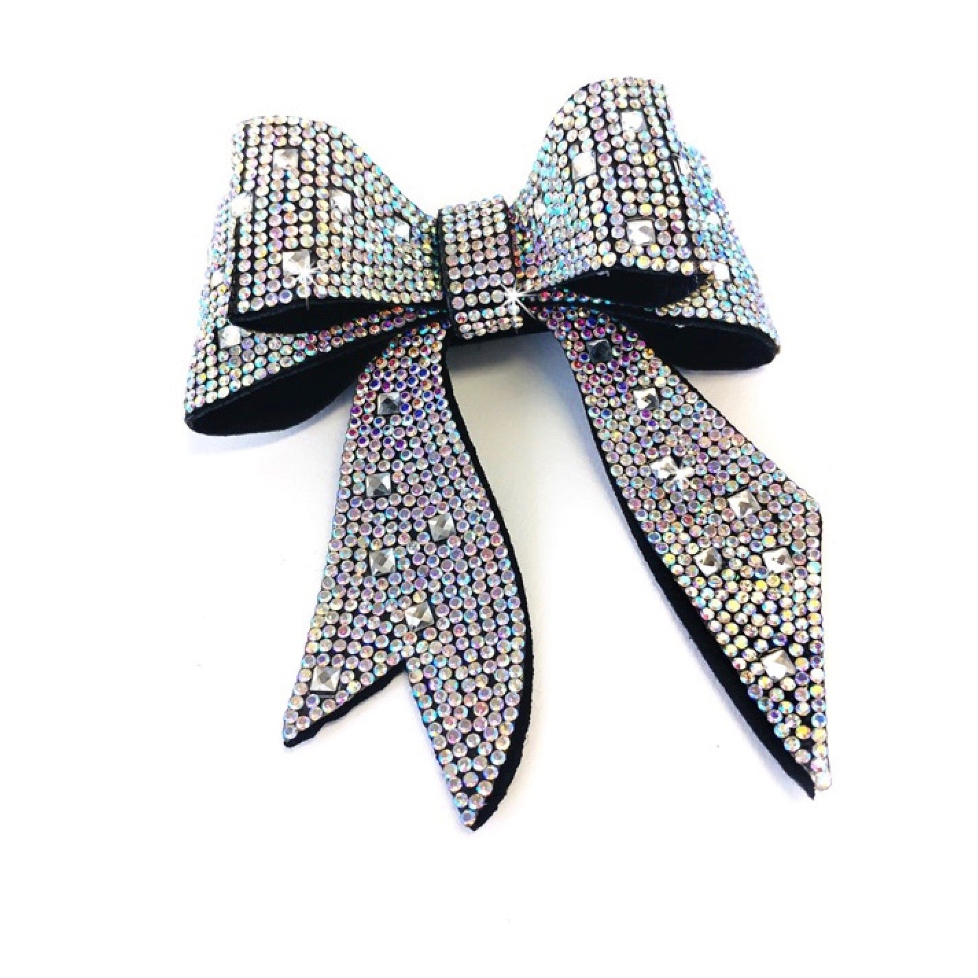"Jacqueline Kent ""Sugar Cane Collection"" Crystal Bow - Aurora Borealis"