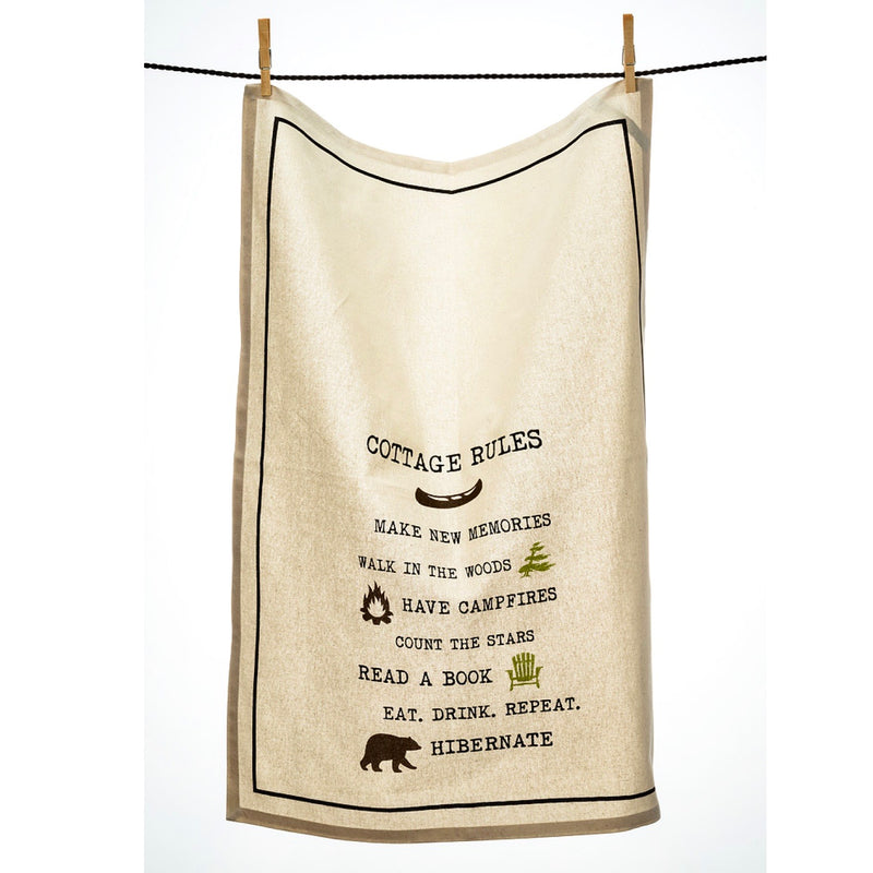 Cottage Rules Tea Towel  | Putti Fine Furnishings