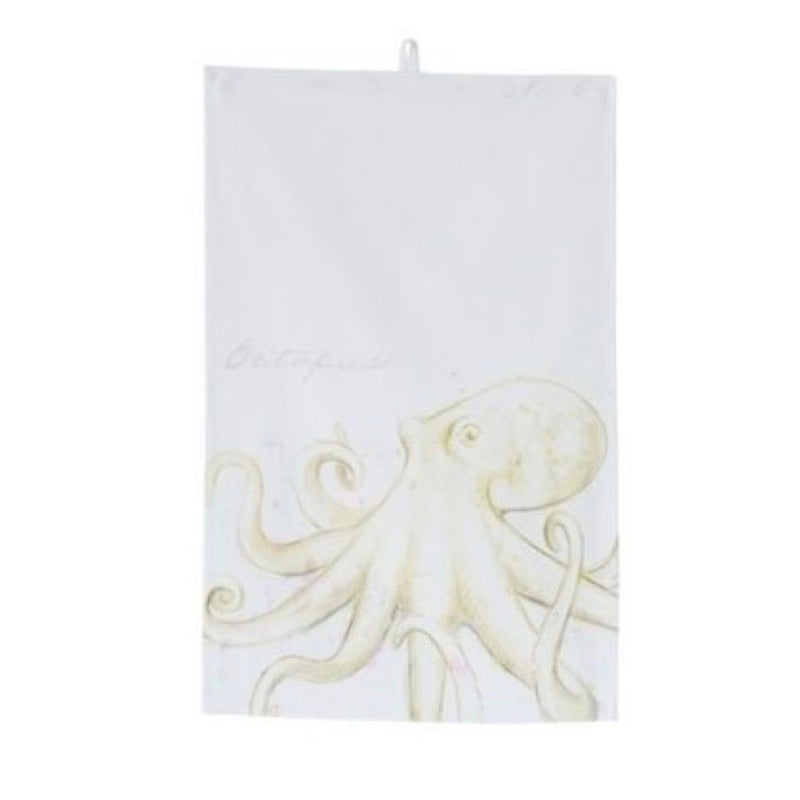 Octopus Costal Tea Towel | Putti Fine Furnishings