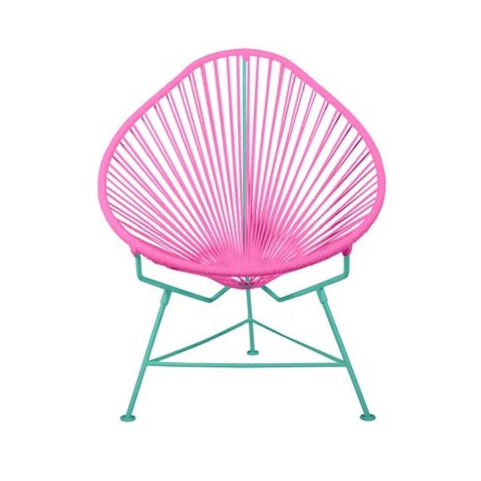 Acapulco Chair - Custom Color on Aqua Blue Frame