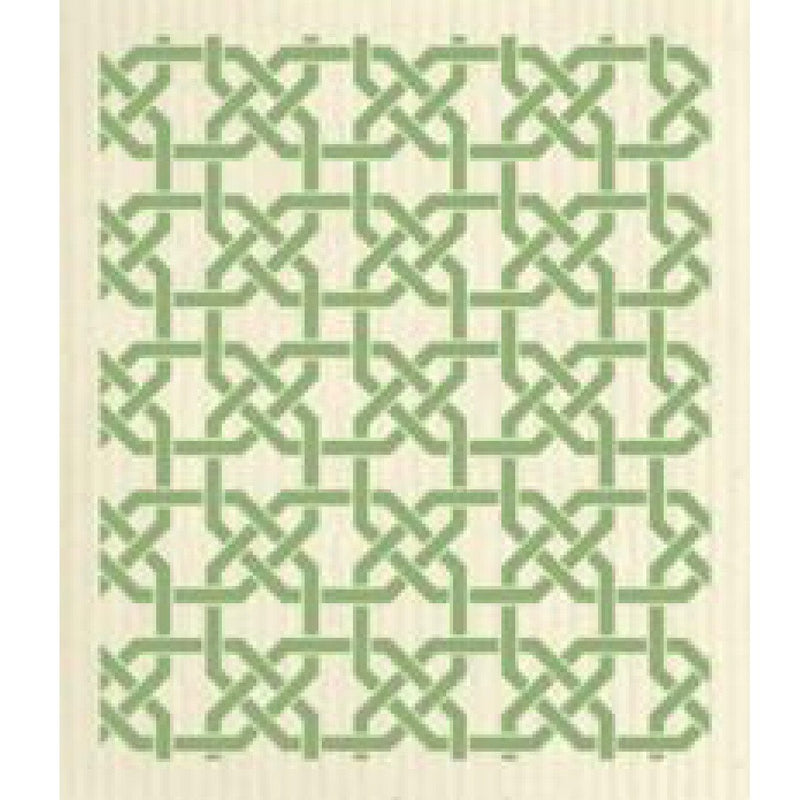 Wet it! Green Trellis Swedish Cloth