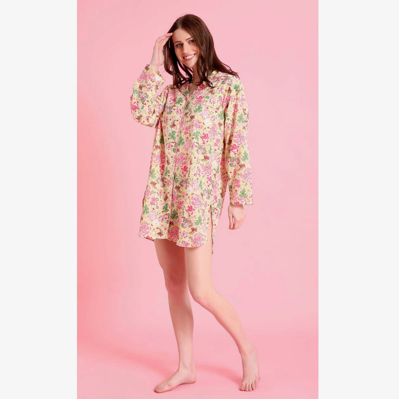 "Mahogany ""Cora Yellow"" Nightshirt"