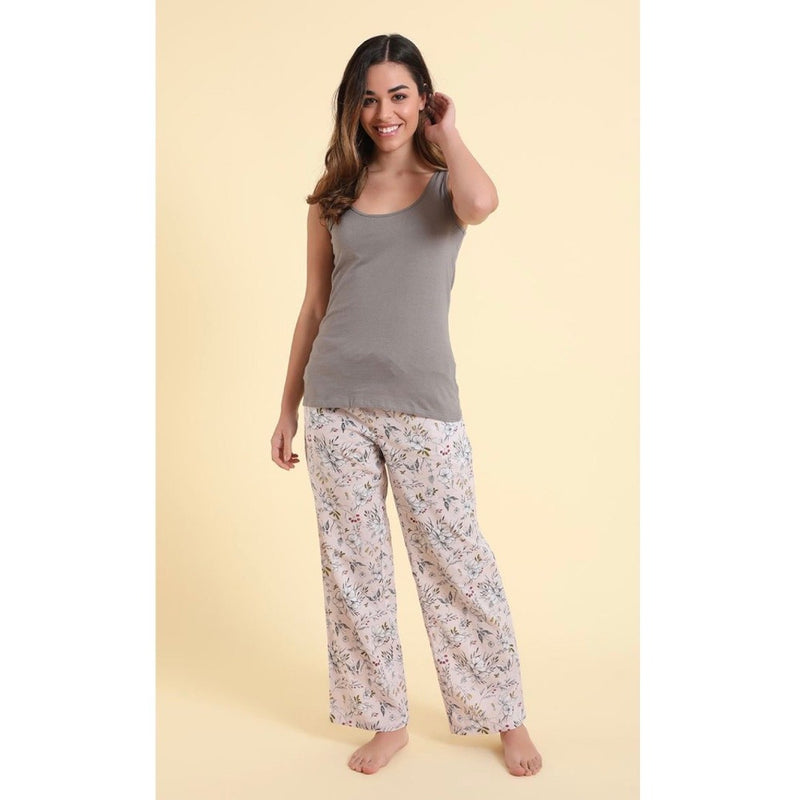 "Mahogany ""Florence"" Floral Cotton Pyjama Pant in Bag 