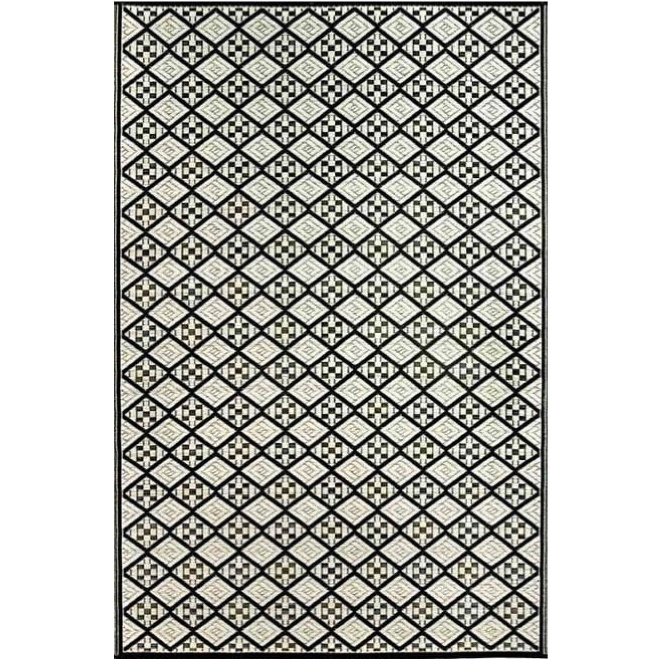 Mad Mats Outdoor Carpet Geometric Scotch - Black White