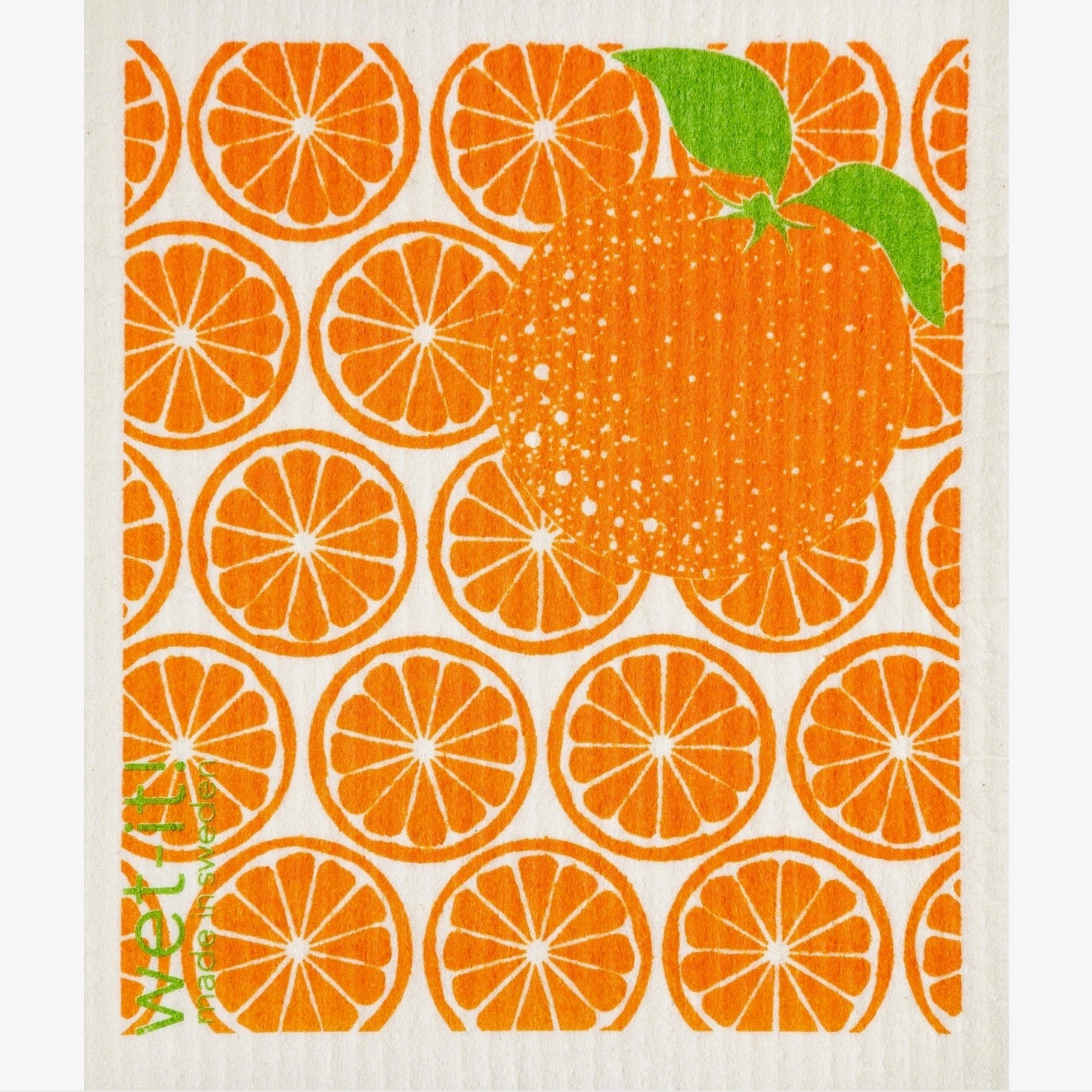 Wet it! Orange Slices Swedish Cloth | Putti Fine Furnishings Canada