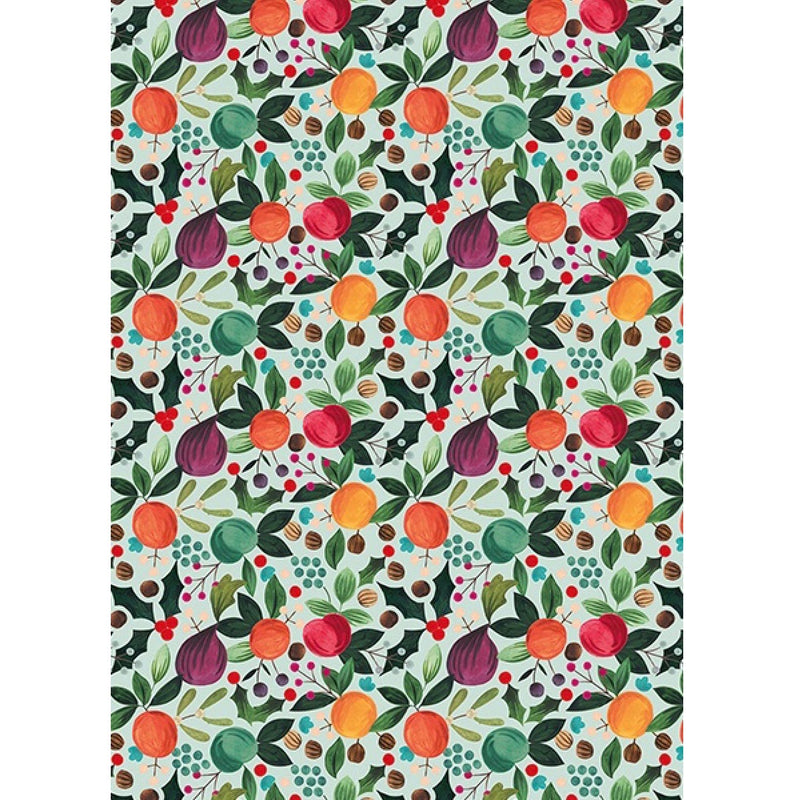 The Art File Winter Fruits Christmas Wrapping Paper Roll | Putti
