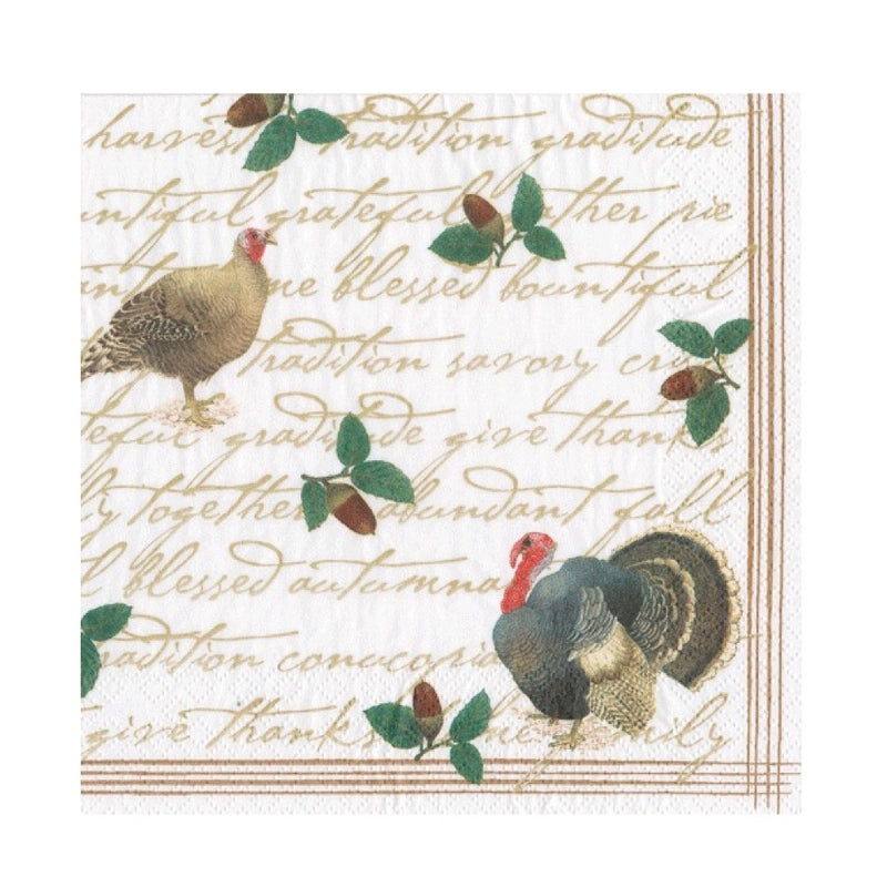 Founders Thanksgiving Paper Napkin - Beverage | Putti Celebrations