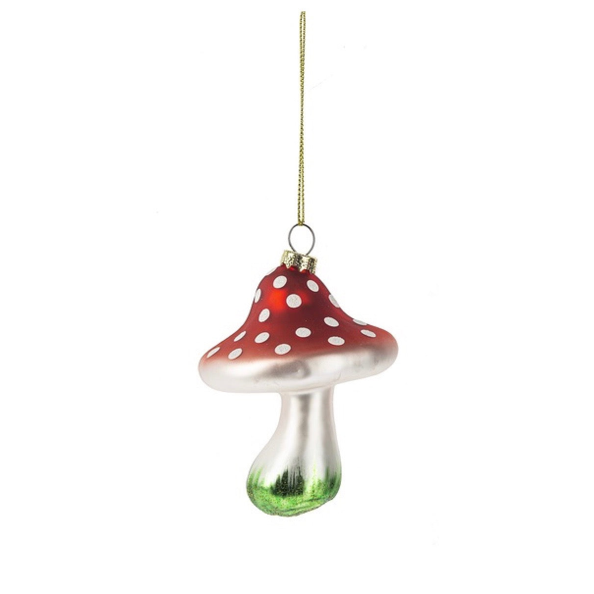 Red Spotted Toadstool Glass Ornament | Putti Christmas Celebrations