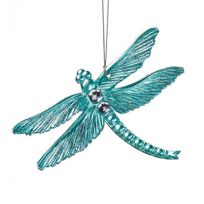 Aqua Blue Dragonfly Ornament
