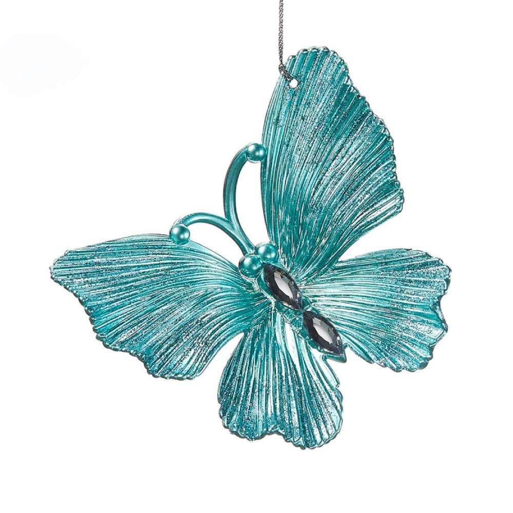 Aqua Blue Butterfly Ornament | Putti Christmas Canada