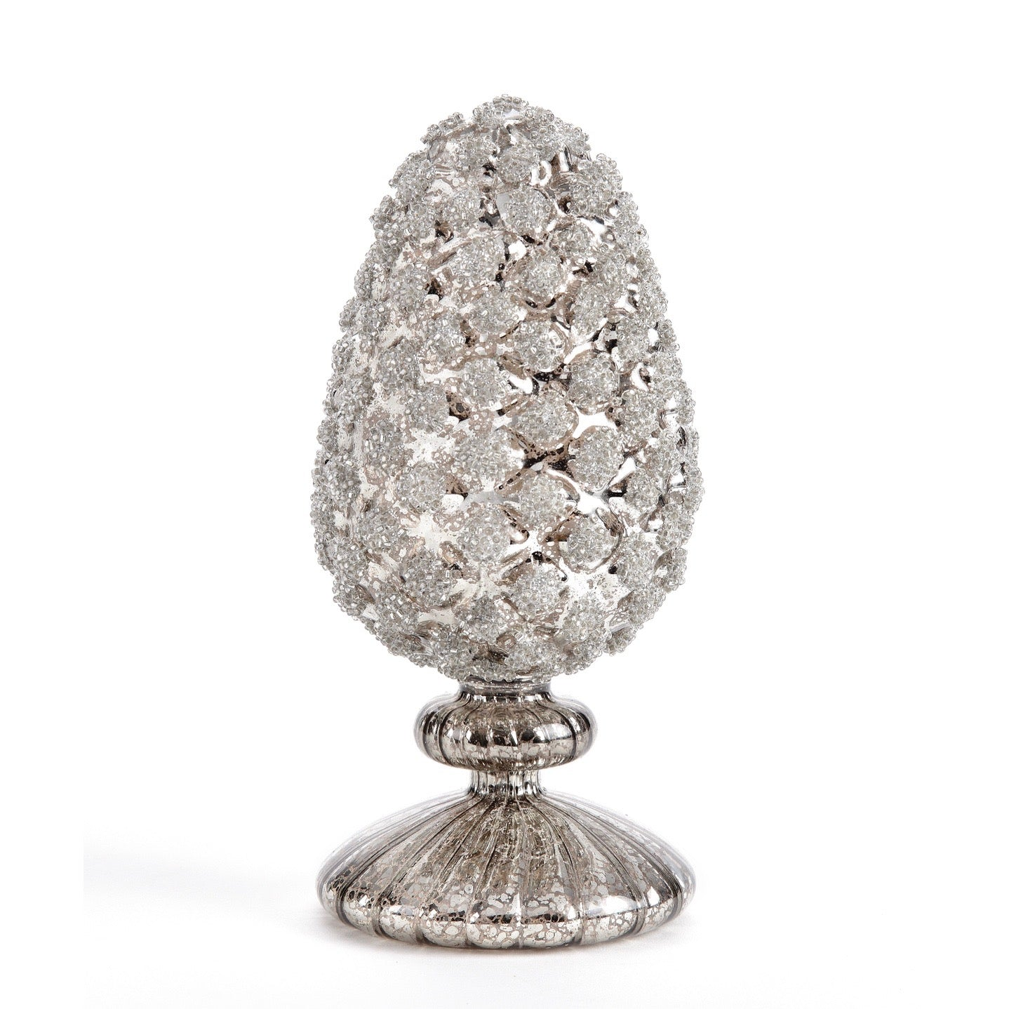 Small Glass Pinecone on Stand | Putti Christmas Celebrations