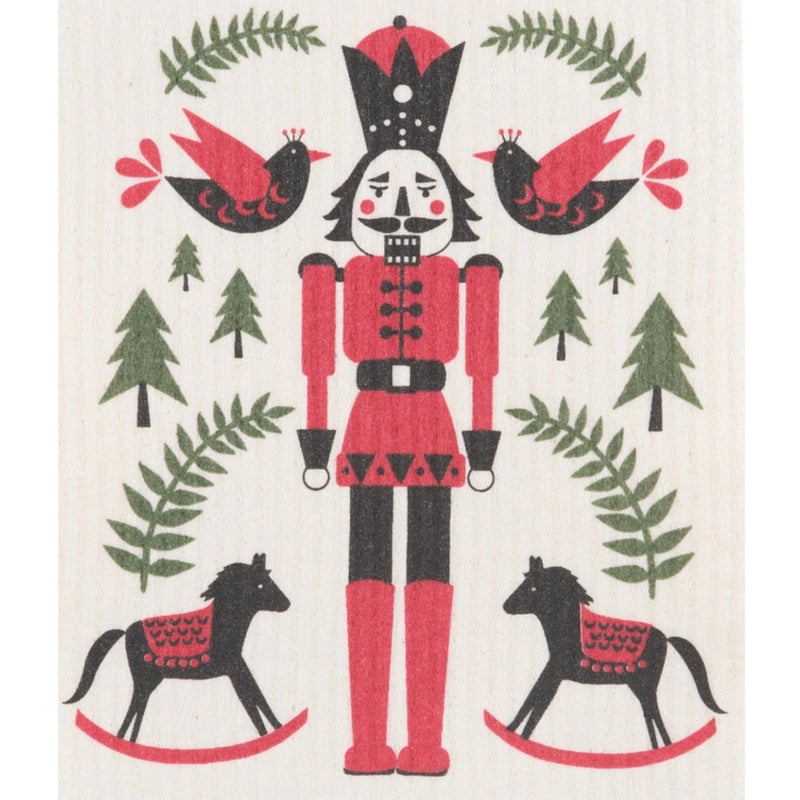Now Designs Nutcracker Swedish Cloth  | Putti Fine Furnishings