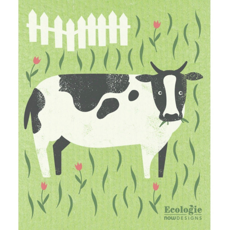 Now Designs Pleasant Pasture Cow Swedish Cloth