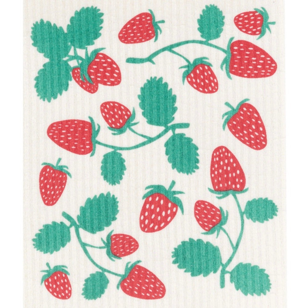 Now Designs Strawberries  Swedish Cloth