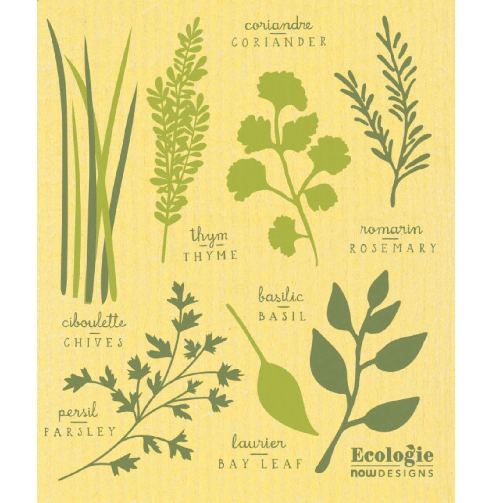 Now Designs Les Fine Herbs Swedish Cloth